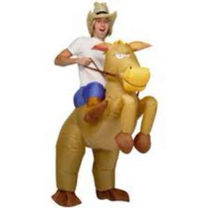 Inflatable Cowboy and Horse Fancy Dress Costume £8.99 + p&p @ FindMeAGift.
