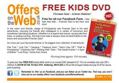 Free Fireman Sam Dvd - Just pay £1.10 P&P @offersontheweb