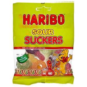 Haribo Sour Suckers/Happy Cherries! Big Bags - 3 For £1 - Poundland - In-store.