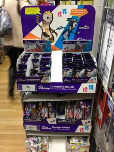 Cadbury Olympic Chocolate Mascots (2 per pack - 32g) 19p @ Home Bargains
