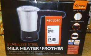 Milk Heater/Frother For Just £5.00!!  *Instore* Only At Aldi - Aeroccino Style Was £17.99