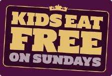 Crown Carveries Kids Eat free With Every Paying Adult On Sundays
