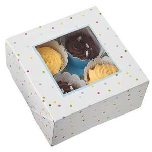 Pack of 3 Cupcake boxes, holds 4 Cupcakes each £1 @ Poundland