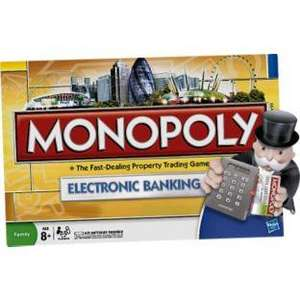 Monopoly UK Electronic Banking Board Game HALF PRICE was £26.99 NOW £13.49 @ Argos