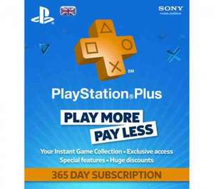 Playstation Plus 1 year £29.99 @ Sainsburys Instore