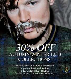 30% off vivienne westwood AW stock