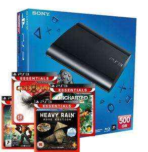 £214.85 - PS3 500gb SUPERSLIM CONSOLE + HEAVY RAIN + UNCHARTED + RATCHET TOOLS OF DE. + GOD OF WAR 3 @ SHOPTO OUTLET EBAY