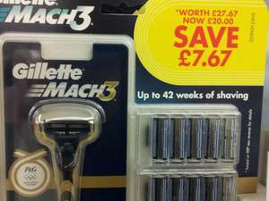 Gillette Mach 3 Razor + 20 Blades £20.00 At Wilkinson (Wilkinson Plus)