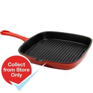 Enamel cast iron griddle pan, home bargains £7.99