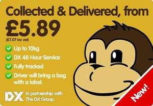 Parcel Monkey now do UK up to 10KG