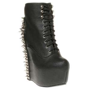 Jeffrey Campbell Black Studded Damsel Boots for £29 @ SOLE