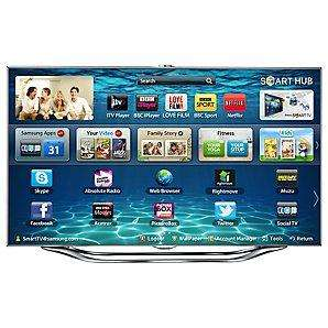 "Samsung UE46ES8000 46"" LED HD 1080p 3D Smart TV and Voice/Motion Control"