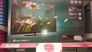 UMC 32Inch HD Ready LED TV with Built-in Freeview (32/188G-GB-5B-TCU-UK Black), 3 HDMI Ports and USB (TESCO in store and online) £168