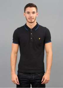 Lyle & Scott Vintage Tipped Polo Shirt Black £38.50 @ Triads