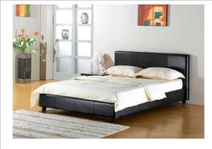 Bargain £80 Delivered Dream Faux Leather Bed - Black / Brown / White - 4ft 6' / 5ft