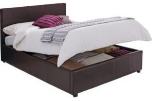 Hygena Millard Double Bed Frame - Chocolate - Ottoman - Argos - £169.99