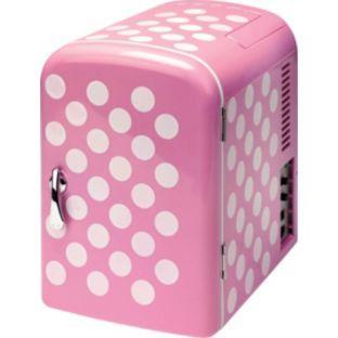 4 Litre Pink Polka Dot Mini Fridge was £34.99 now £14.99 Argos