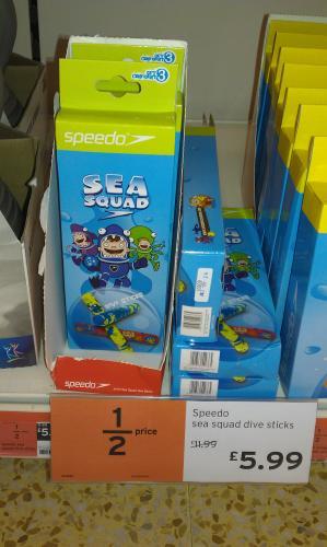Speedo Sea Squad Dive Sticks £5.99 @ Sainsbury's In Store