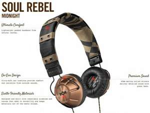 House of Marley soul rebel midnight headphones £14.99 @ Homedics eBay