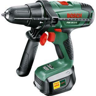 Homebase - Bosch PSB 18 Li-2 Cordless Hammer Drill £89.98 then another 20% OFF