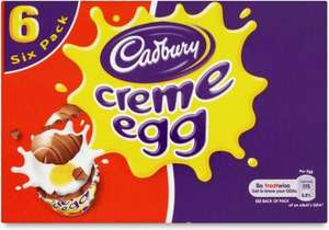 CREME EGGS ~ Box of 6 ~ Half Price @ One Stop ~ £1.65