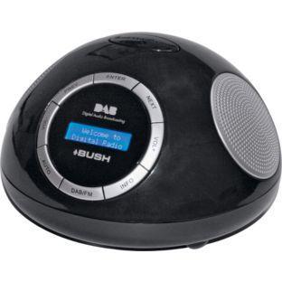 Bush DAB Alarm Clock Radio - Black @ Argos
