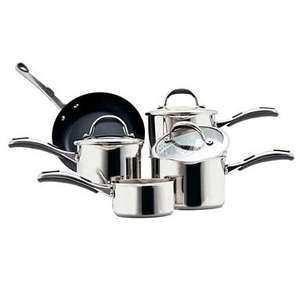 Meyer Select Stainless Steel 5 piece pan set now only £76.50 delivered (was £220) @ Debenhams + TCB/ Quidco
