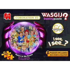 Wasgij Coronation Street 50th Anniversary Destiny 2 x 1000 Piece Jigsaw Puzzle £8.99 click and collect @ Tesco Direct