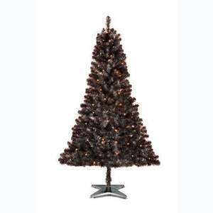 Asda 6ft Pre-Lit Black Christmas Tree £4.99 instore