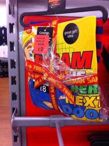 Fireman Sam Pyjamas reduced to £2 / Bear PJ's £1.50 / Skull & Crossbones PJ's £1.50 instore @ ASDA Living
