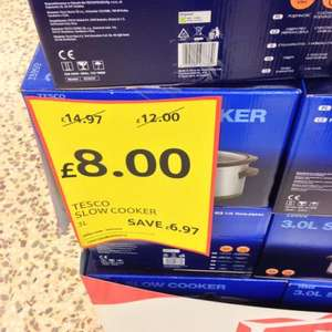 Tesco Slow cooker £8 instore & online