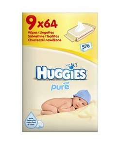 Huggies Pure Wipes 9pk £6.28 @ Tesco Direct