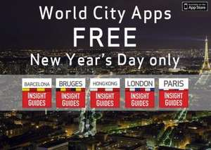 Free Insight City Guides for Barcelona, Bruges, Hong Kong, London and Paris for iPhone and iPad NEW YEAR'S DAY ONLY