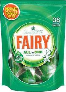 Fairy All in One Dishwasher Tablets Original & Lemon 38s £4.00 @ ASDA