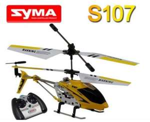 Syma S107G 3-Channel Infrared Controlled Helicopter with Gyroscopic Stability Control (Yellow), £13.75 delivered @ eBay / gadgetuniverse2012