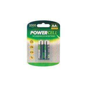 2 X AA Rechargeable 1000mAh  PowerCell batteries £1 @ PoundWorld