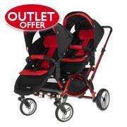 Obaby Zoom Tandem Double Buggy in Red @ Obaby outlet £249.99