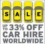 Hertz is offering up to 33% off car rentals in over 100 countries worldwide.