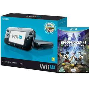 Wii U Console: 32GB Nintendo Land Premium Bundle - Black + Disney's Epic Mickey £259.99 @ Zavvi ebay