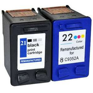 Hp printer Ink (21&22) £14.96 for colour and black and white @cartridgeshop