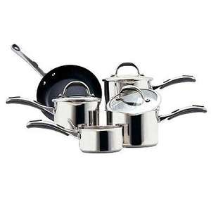 Meyer Select Stainless Steel 5 piece pan set only £56.10 delivered [was £220] @ Debenhams