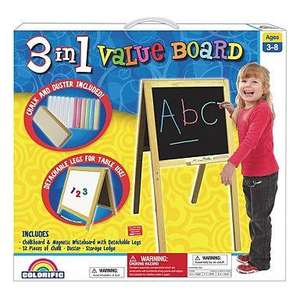 Colorific Value 3 in 1 Easel/Whiteboard now £9.60 del @ Debenhams