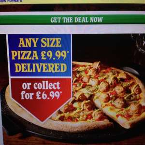 Dominos large pizza for £6.99 collection