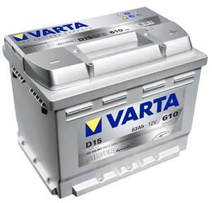 Varta Silver D15 Car Battery 63ah - 610cca - 5 year warranty. £53.25 GCD Garage, Glasgow (ebay - starterbatteries2011)