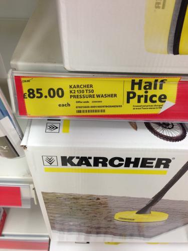 Karcher K2.129 Pressure Washer £85 @ tesco
