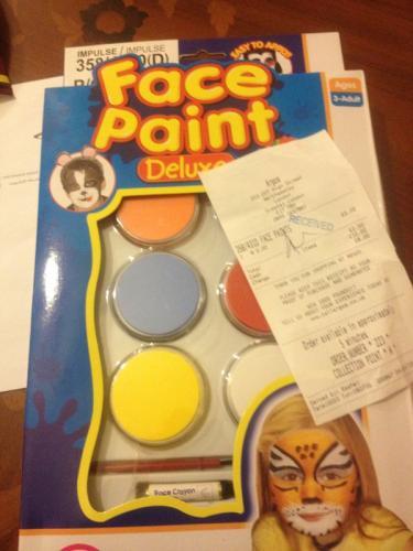 Face paint deluxe £2 instore @ Argos