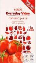 Tesco Everyday Value Tomato Juice 1lt 18p @ Tesco (instore)
