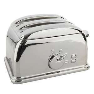 Ben de Lisi  Silver toaster-shaped bread bin was £40.00 now £12.00 (free delivery) Debenhams