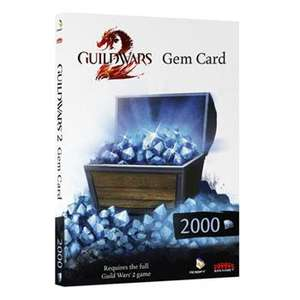 Guild Wars 2 - Gem Card 2000 in game - £15.58 Delivered @ Scan