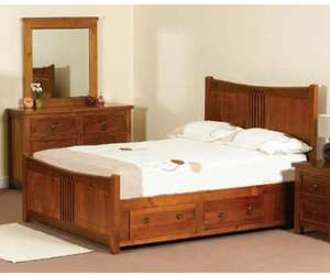 Hudson double 4ft 6' wild cherry finish bed frame by Sweet Dreams £345 @ Bed Star